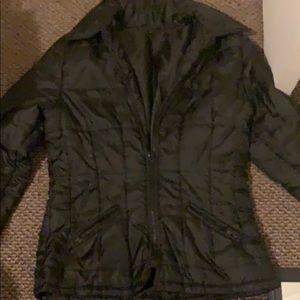 black rain  jacket  with pockets  size S